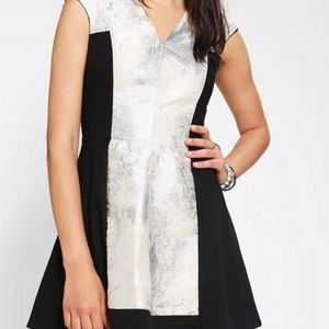 C/MEO Colelctive Silver and Black Dress